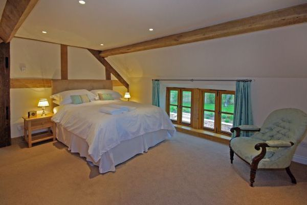 Spacious airy bedroom