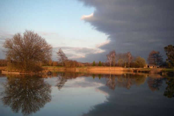 Beautiful sky's over the tranquil lake