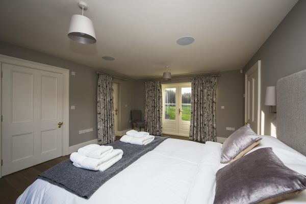 Stylish bedrooms in a high quality Herefordshire holiday home