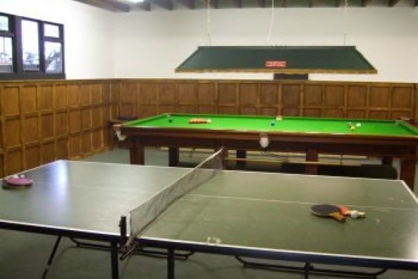 self-catering snooker table games room