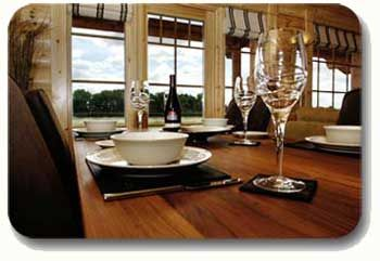 self-catering log cabin scotland dining romantic