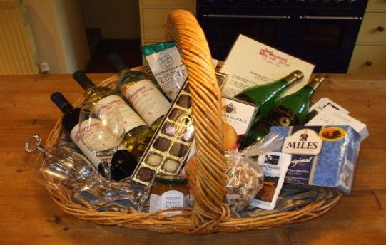 Generous welcome hamper filled with local delights