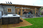 farm property with hot tub
