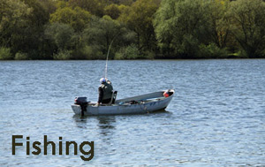 Luxury accommodation with fishing on site or nearby